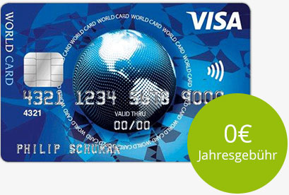 Visa World Card für 0 €
